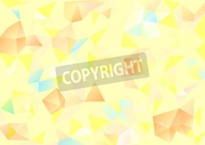 Bild Kubismus Hintergrund Blassgelb und orangeblau