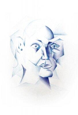 Bild Kubistisches Gesicht