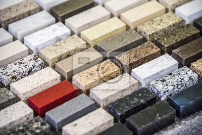 Küche granit arbeitsplatten farbmuster aufgereiht leinwandbilder ...