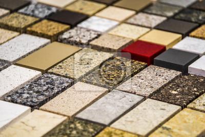 Kuche Granit Arbeitsplatten Farbmuster Aufgereiht Granit