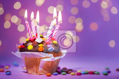 Kuchen Geburtstag Jubilaum Kerzen Leinwandbilder Bilder