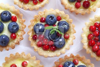 Kuchen Mit Obst Leinwandbilder Bilder Platzchen Cupcake Gelee