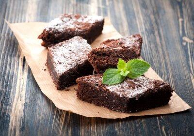 Bild Kuchen Schokolade Brownie