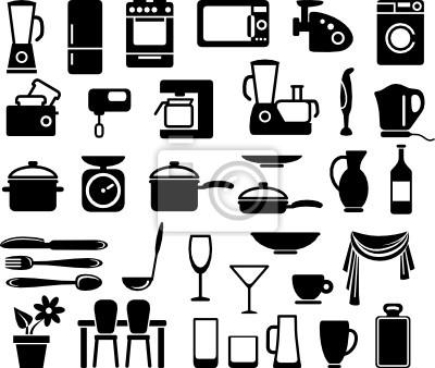 Küchengeschirr und Haushaltsgeräte