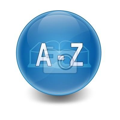 """Kugel mit hellen Text """" A - Z"""""""