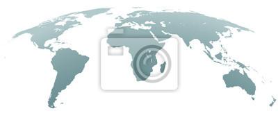 Bild Kugelförmige gebogene graue Weltkarte