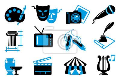 Kultur-und Kunst Vektor-Icons