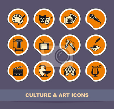 Kunst Symbole auf Aufklebern