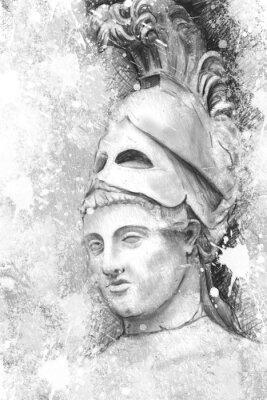 Bild Künstlerische Porträt des Perikles mit strukturierten Hintergrund, classica