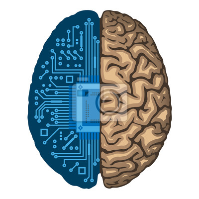Künstliche intelligenz, cpu innerhalb menschlichen gehirns ...