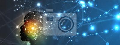 Bild Künstliche Intelligenz. Technologie-Web-Hintergrund. Virtuelles Konzept