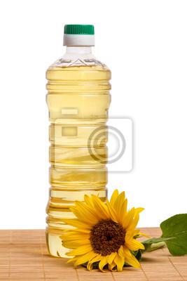 Bild Kunststoff-Flasche mit Sonnenblumenöl