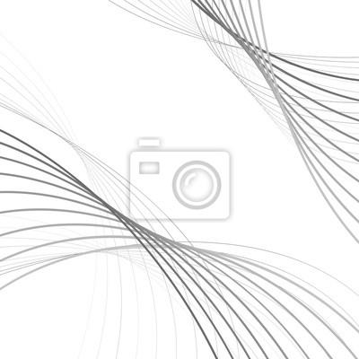 kurvige abstrakte Linie Wellengrafik grauen Hintergrund