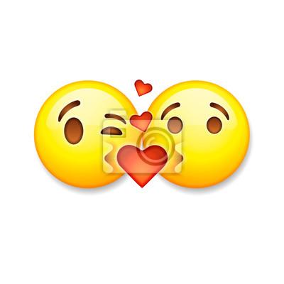 Kussen Emoticons Valentinstag Emoticon Symbole Liebe Emoji