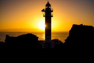 Bild Küstenlinie mit Leuchtturm Silhouette