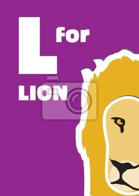L für den Löwe, ein Tier-Alphabet für Kinder
