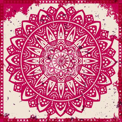 Bild Lace Ornament auf Grunge-Hintergrund