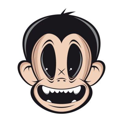 Lächelnde affe gesicht clipart leinwandbilder • bilder Primaten, ape ...