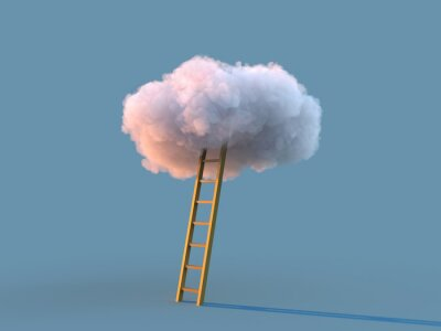 Bild ladder to the white cloud