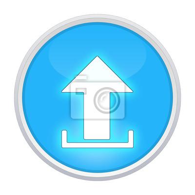 Lade symbol hellblauen kreis leinwandbilder • bilder Schaltfläche ...