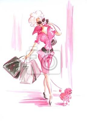 Lady in pink-mein eigenes Kunstwerk.