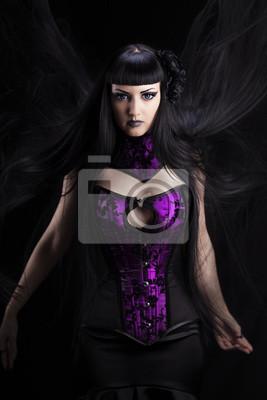 Lady in Violett