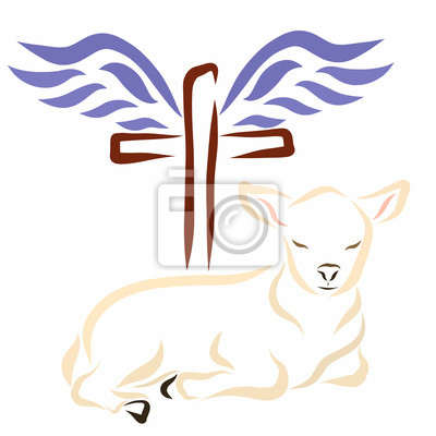 Bild Lamb Cross And Wings Christianity