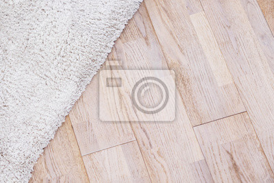 Laminat Parquete Boden Mit Beige Weichen Teppich Leinwandbilder
