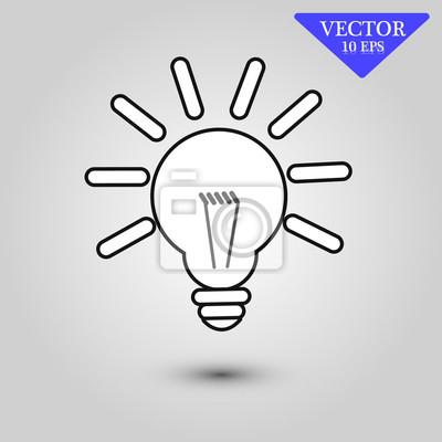Bild Lampe Symbol Vektor, Lampe Symbol Eps10, Lampe Symbol Abbildung, Lampe Symbol Bild, Lampe Symbol flach, Lampe Symbol, Lampe Web-Symbol, Lampe Symbol Kunst, Lampe Symbol Zeichnung, Lampe Symbol, Lampe