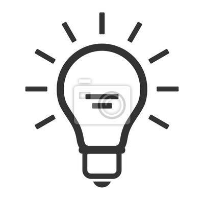 Lampen-symbol. flat einfaches symbol der lampe auf einem weißen ...