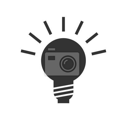 Lampen-symbol. lampen-vektor-illustration. leinwandbilder • bilder ...