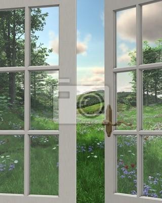 Land Window View