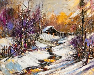 Bild Ländliche Winterlandschaft