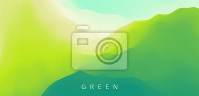 Bild Landscape with green mountains. Mountainous terrain. Abstract nature background. Vector illustration.