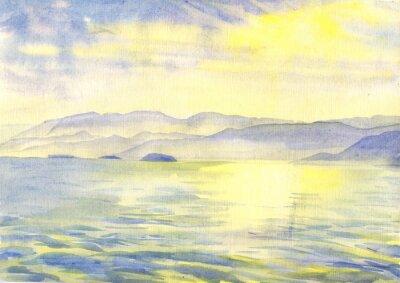 Bild Landschaft. Aquarellmalerei