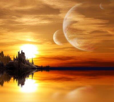 Landschaft in Fantasy Planeten