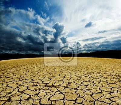 Landschaft rissige Erde