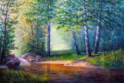 Bild Landschaftsmalerei des Wasserfalls