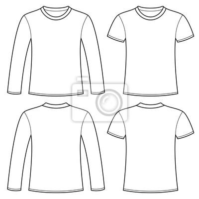 Langarm-t-shirt und t-shirt-vorlage leinwandbilder • bilder Pullover ...