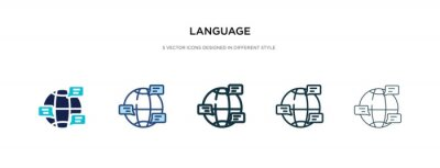 Bild language icon in different style vector illustration. two colored and black language vector icons designed in filled, outline, line and stroke style can be used for web, mobile, ui