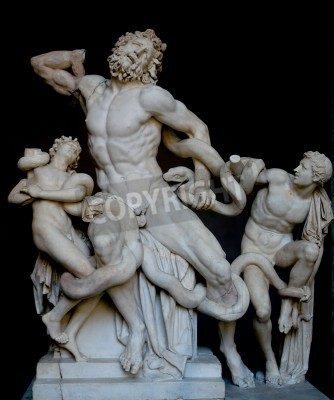 Bild Laocoon and his sons, famous classical greek statue