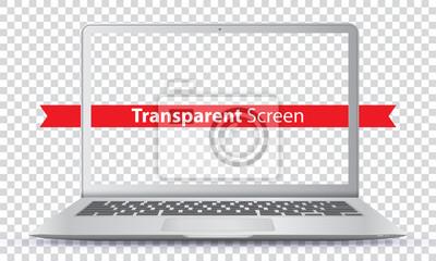 Bild Laptop-Vektor-Illustration mit transparenten Bildschirm.