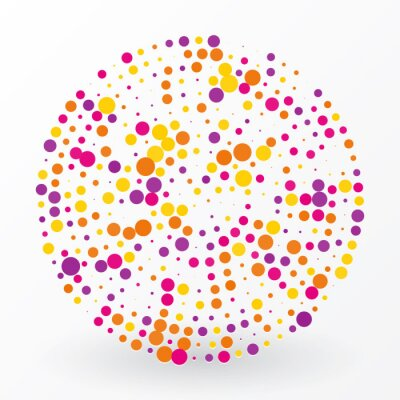 Bild large colored circle of the small polka dots