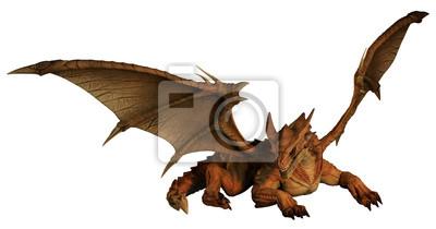 Large Red Dragon Herumstreifen