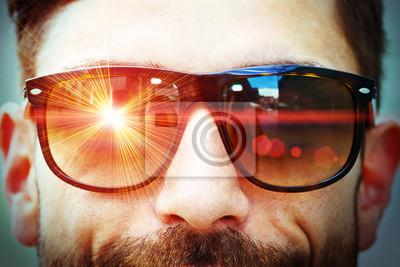 Laser auf Gläsern