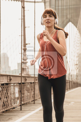 Laufen auf der Brooklyn Bridge