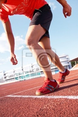Läufer auf Stadion
