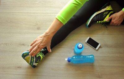 Bild Läufer Beine ausgestreckt
