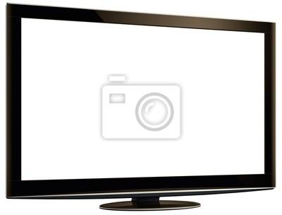 Bild LCD TV & White Screen XXL + Clipping Path