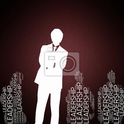 Bild Leadership - Konzepte Tapete mit Mann Silhouette
